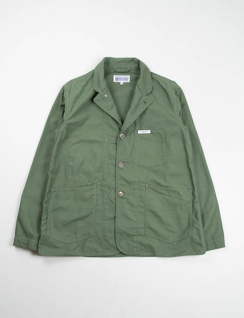 Olive Reversed Sateen Workers Jacket