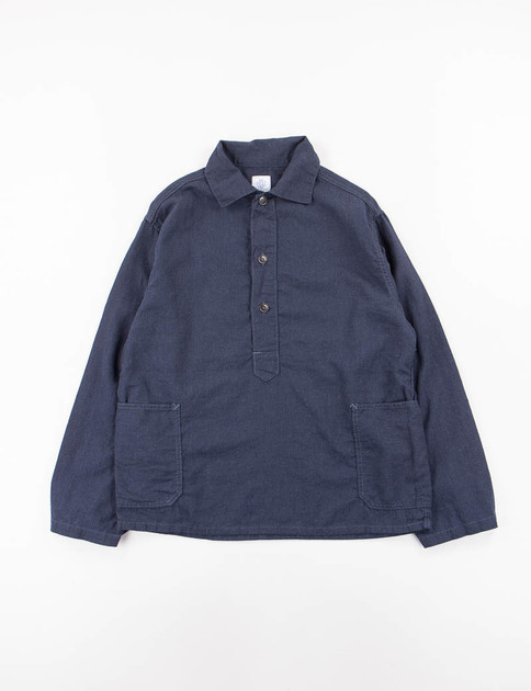Navy Dull Linen Craftmaster 2 Shirt