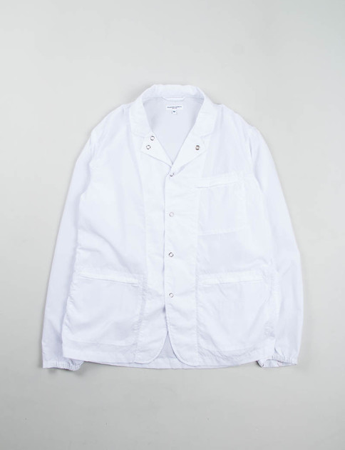 White 2ply Nylon Taslan Knockabout Jacket