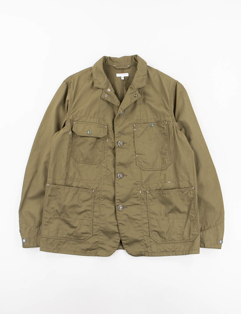 Olive 7oz Cotton Twill Coverall Jacket