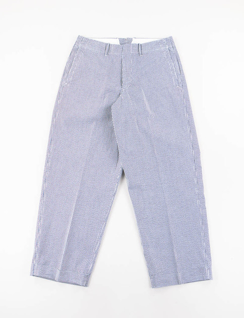 Navy Seersucker Stripe Easy Pant