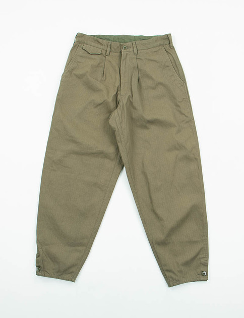 Olive Herringbone Riding Pant