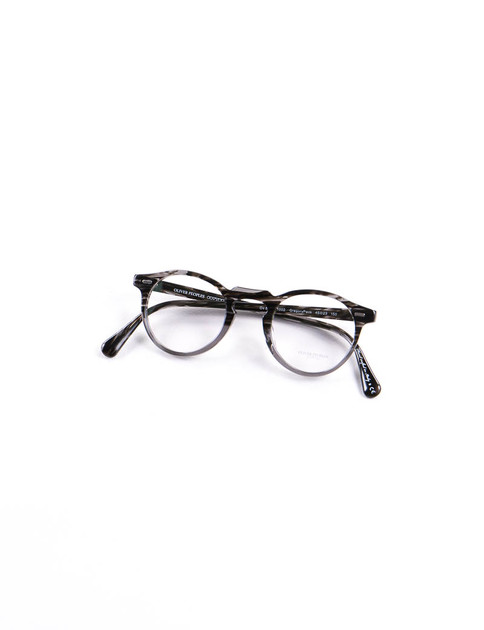 Striped Grey Gregory Peck Optical Frame