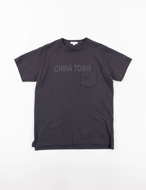 Navy China Town Printed T–Shirt