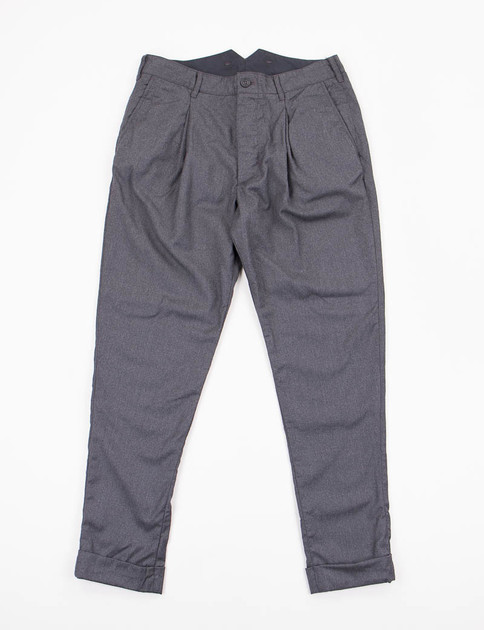 Grey Worsted Wool Willy Post Pant