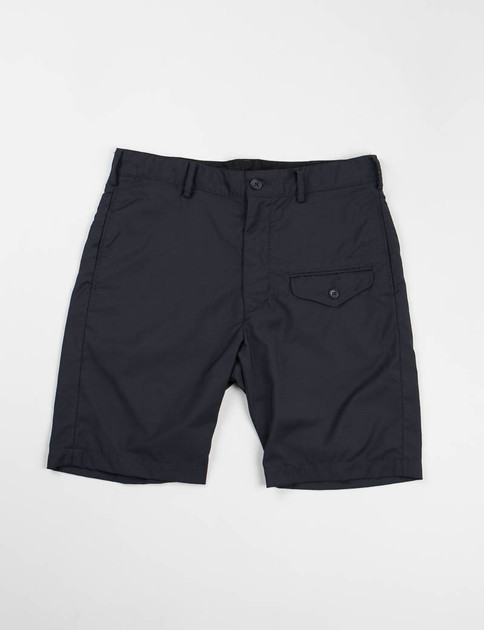 Navy Tropical Wool Ghurka Short