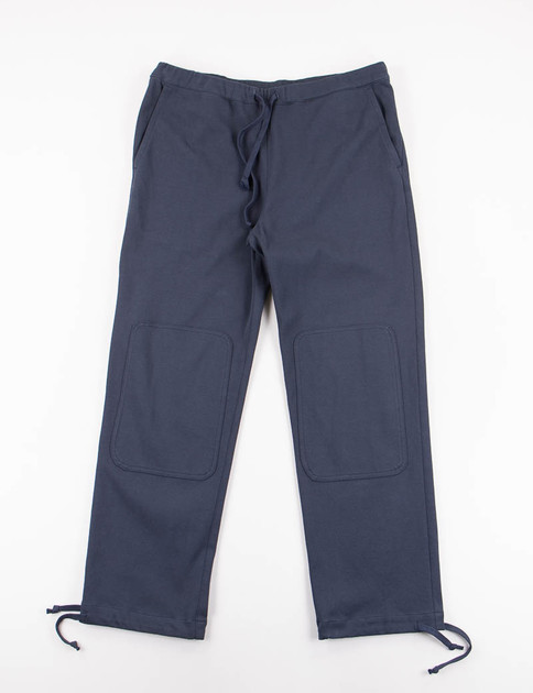 Navy High Count Cotton Jersey Knee Patch Training Pant
