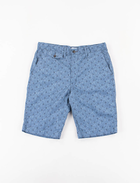 Blue Buds Vintage Calico Lined Menpolini Short