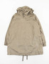 Olive Coated Linen Cagoule