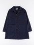 Dark Navy Reversed Sateen Shop Coat