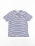 Navy/White Stripe Jersey Henley Shirt
