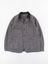 Grey Salt and Pepper Twill Coverall Jacket