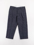 Navy Vintage Knotted High Water Pleated Wide Slacks